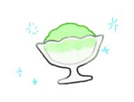 介護食のかき氷風ゼリーイラスト3